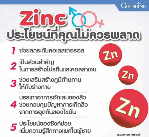 ประโยชน์ zinc